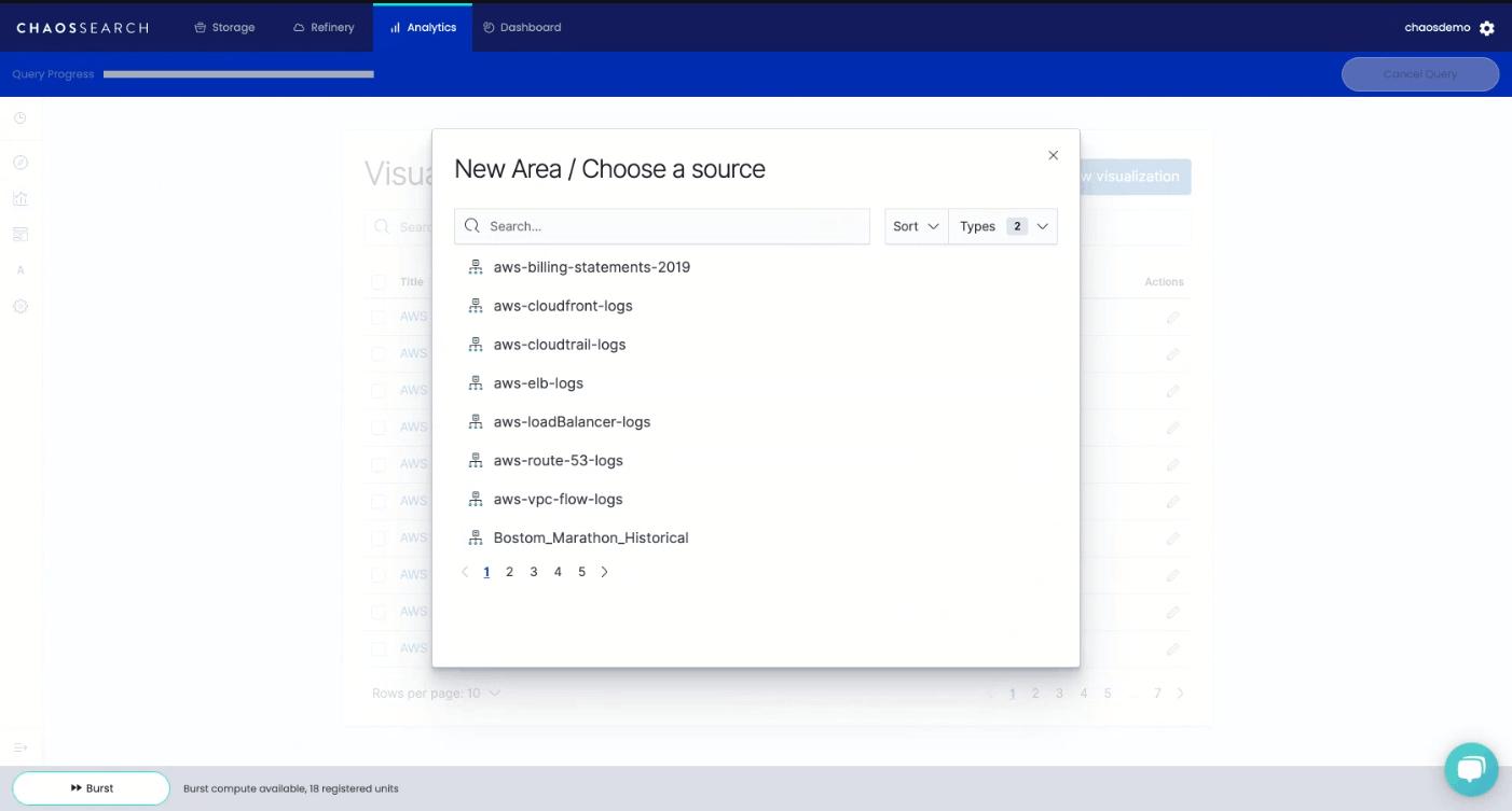 Kibana Data Visualization Choose a Data Source