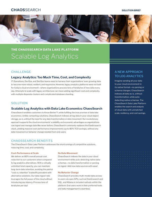 ChaosSearch Solution Brief