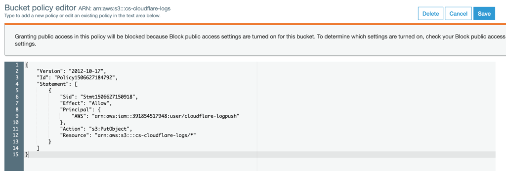 Getting Started with Cloudflare Logpush and CHAOSSEARCH