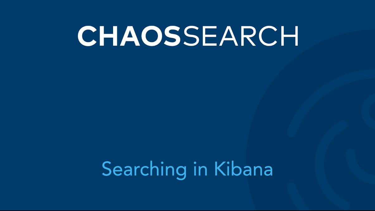 Searching in Kibana